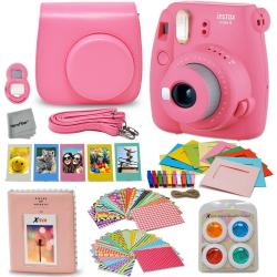 Fujifilm Instax Mini 9 Instant Camera (Flamingo Pink) With Accessory Kit