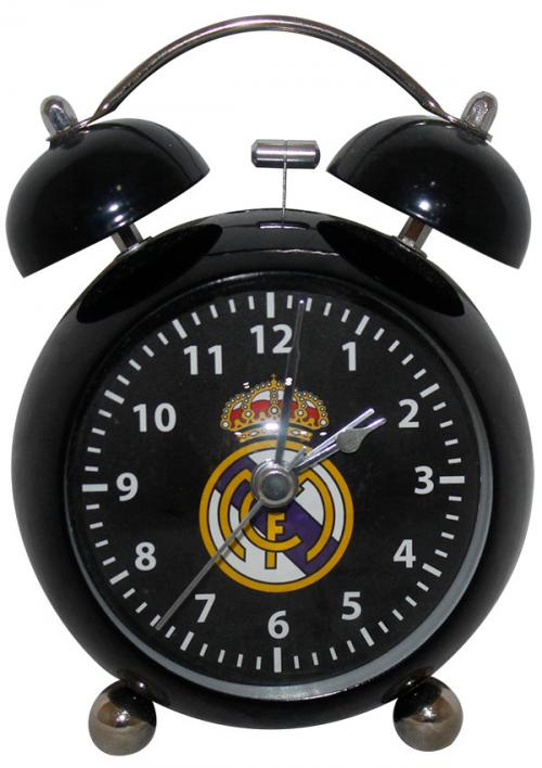 Real Madrid Alarm Clock with N Battery - Black (KSH-018)
