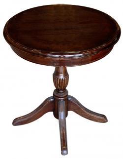Dark Brown Sissoo Wood Coffee Table - 1 Leg (SD-064)
