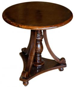 Dark Brown Sissoo Wood Round Coffee Table (SD-066)