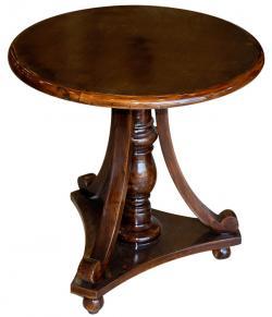 Dark Brown Sissoo Wood Round Coffee Table (SD-066)