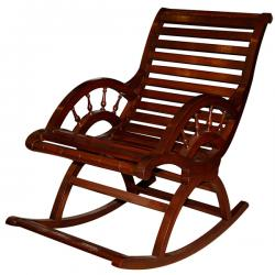 Brown Wooden Rocking Chair (SD-071)