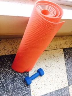 Yoga Mat And Dumb Bell For Sale- Almost New
