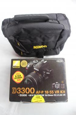Nikon D3300 (af-p 18-55mm Vr Kit) Dslr Camera+nikon Bag+16gb Sd Card