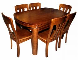 Wooden Adjustable Dining Table - 6 Seater - (SD-076)
