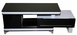 Black & White Adjustable TV Cabinet - (SD-077)