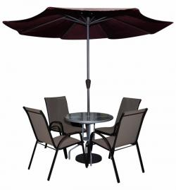 Garden Chair Set With Umbrella - (SD-083)