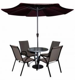 Garden Chair Set With Umbrella - (SD-083)