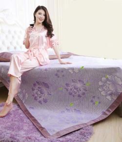 Floral Pattern Decorative Mattress & Pillow Protector - 150cm x 195cm - (STL-001)