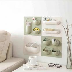 (TP-0269) Wall Paste Hanging Rack Organizer - Storage Shelf - Per Piece