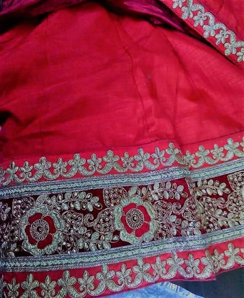 Red Silk Lehenga