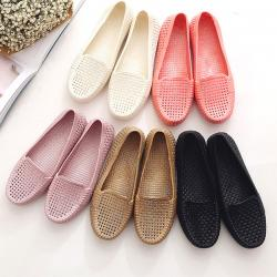 Jelly Ballet Flat Shoes - Breathable Hole Female Shoes - (STL-003)