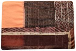 Embroidered Brown & Peach Mixed Color Party Wear Saree - (RI-Q2)
