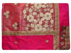 Embroidered Pink Color Party Wear Saree - (RI-R4)