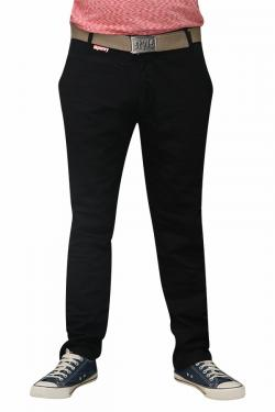 Men's Slim Fit Stretchable Semi Formal Twill Jeans Pant - Dark Black - (RS-0007)
