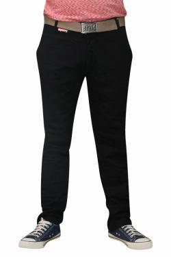 Men's Slim Fit Stretchable Semi Formal Twill Jeans Pant - Dark Black - (RS-0007)