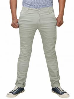Men's Slim Fit Stretchable Semi Formal Twill Jeans Pant - Beige Color - (RS-0008)