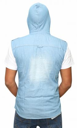 Sleeveless Jeans Shirt For Men (RS-20)
