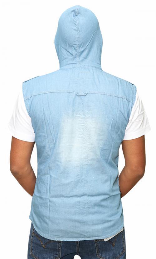 Sleeveless Jeans Shirt For Men (RS-20)