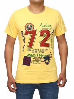 Baseball Themed Yellow T-shirt For Men (RS-23)