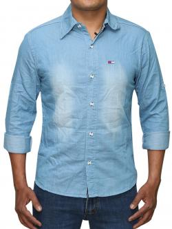 Washed Design Jeans Shirt For Men (RS-30)