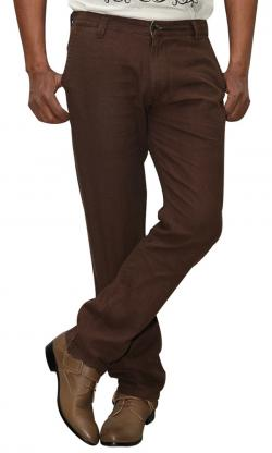 Gucci Stretchable Brown Cotton Pant (RS-0018)