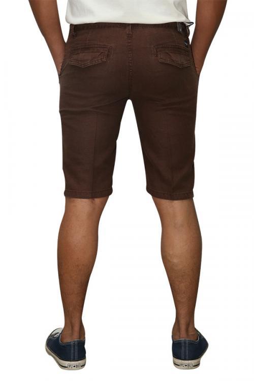 Paul Smith Brown Linen Half-Pant For Men (RS-0013)