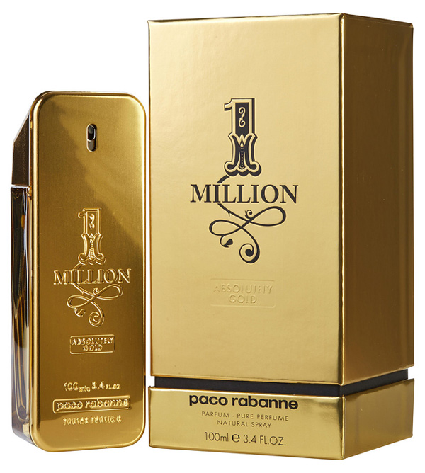 1 Million Absolutely Gold By Paco Rabanne Pure Perfume Spray For Men