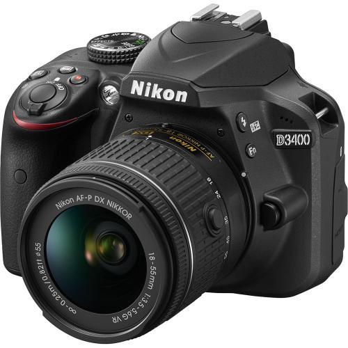 Nikon D3400 DSLR Camera with 18-55mm Lens Basic Kit B&H