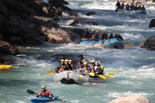 One day rafting in Trisuli and Bhotekoshi River