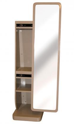 Sliding Mirror Stand - Khaki Color - (SD-091)