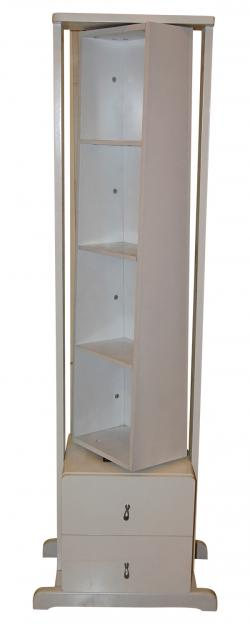 Rotating Mirror Stand - White Color - (SD-092)