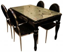 Glass Topped Dining Table Set - 4 Seater - (SD-095)