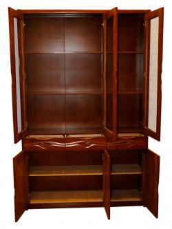 Solid Wooden Book Case With Glass Door - (SD-093)
