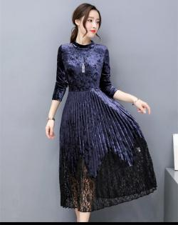 Korean Style Vintage Party/Casual Dress