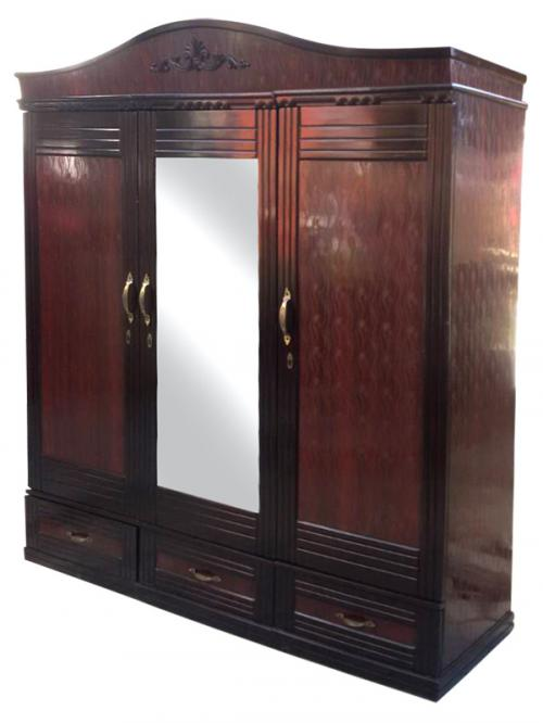 Dark Brown 3 Piece Cupboard - (RD-058)