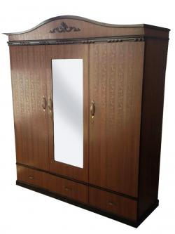 Wooden 3 Piece Cupboard - Brown - (RD-059)