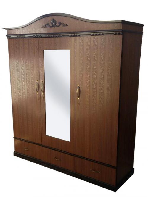 Wooden 3 Piece Cupboard - Brown - (RD-059)