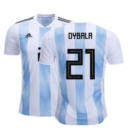 Argentina 21 Dybala Home Jersey 2018 (Printed) - (KSH-078)