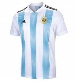 Argentina Home Jersey 2018 (Not Printed) - (KSH-080)