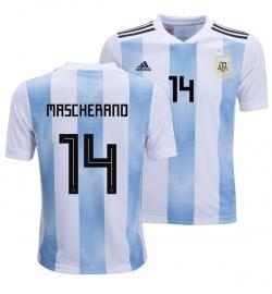 Argentina 14 Mascherano Home Jersey 2018 (Printed) - (KSH-079)