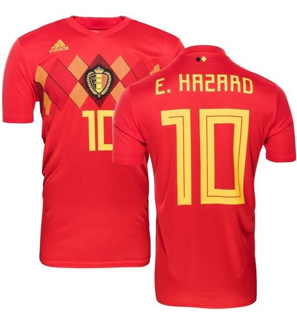cheap for discount 938ae c7215 Belgium 10 E. Hazard Home Jersey 2018 (Printed) - (KSH-082 ...