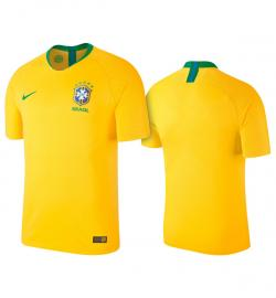 Brazil Home Jersey 2018 (Not Printed) - (KSH-094)