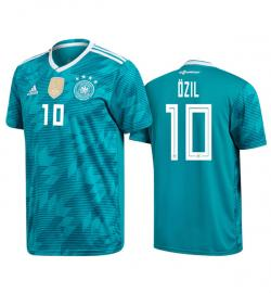 Germany 10 Ozil Away Jersey 2018 (Printed) - (KSH-085)