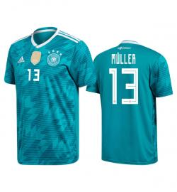 Germany 13 Muller Away Jersey 2018 (Printed) - (KSH-086)