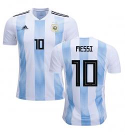 Argentina 10 Messi Home Jersey 2018 (Printed) - (KSH-100)