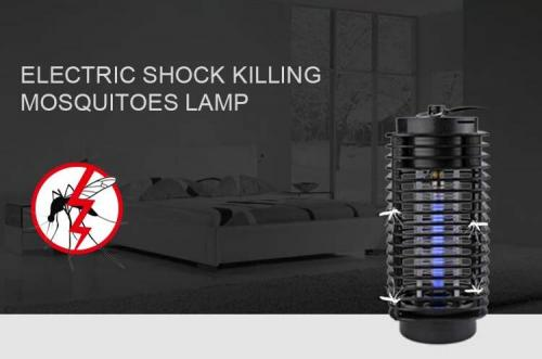 Electric shock killing mosquitoes lamp