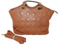 Peru Brown Stitched Design Hand Bag Shoulder Bag For Ladies - (RASH-0002)