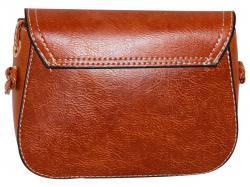 Cocoa Brown Saddle Bag For Ladies (RASH-0019)