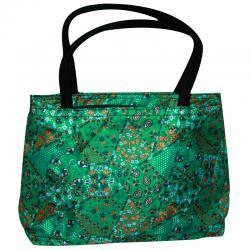 Green Reusable Plastic Shopping Bag (RASH-0022)